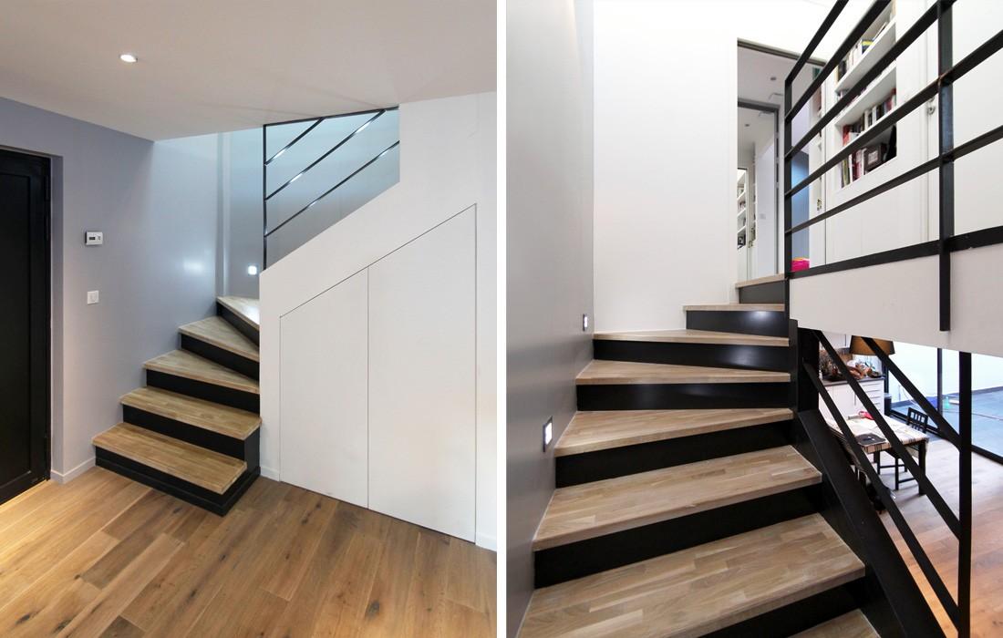 duplex montreuil feld architecture l architectes paris 75007. Black Bedroom Furniture Sets. Home Design Ideas