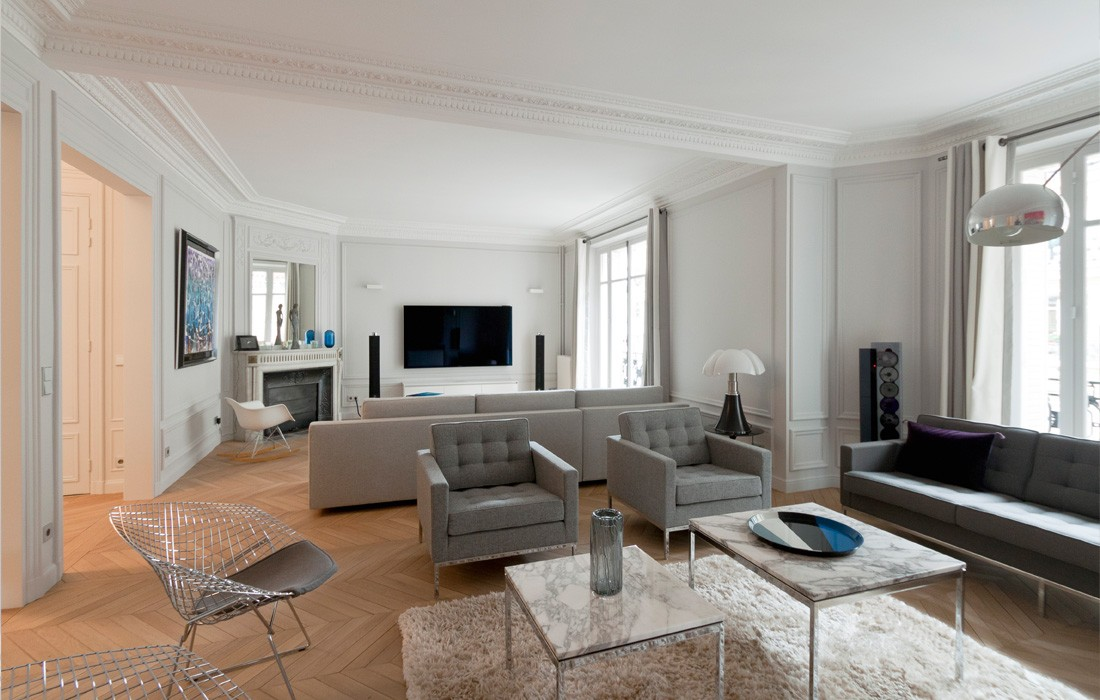 appartement neuilly feld architecture l architectes paris 75007. Black Bedroom Furniture Sets. Home Design Ideas