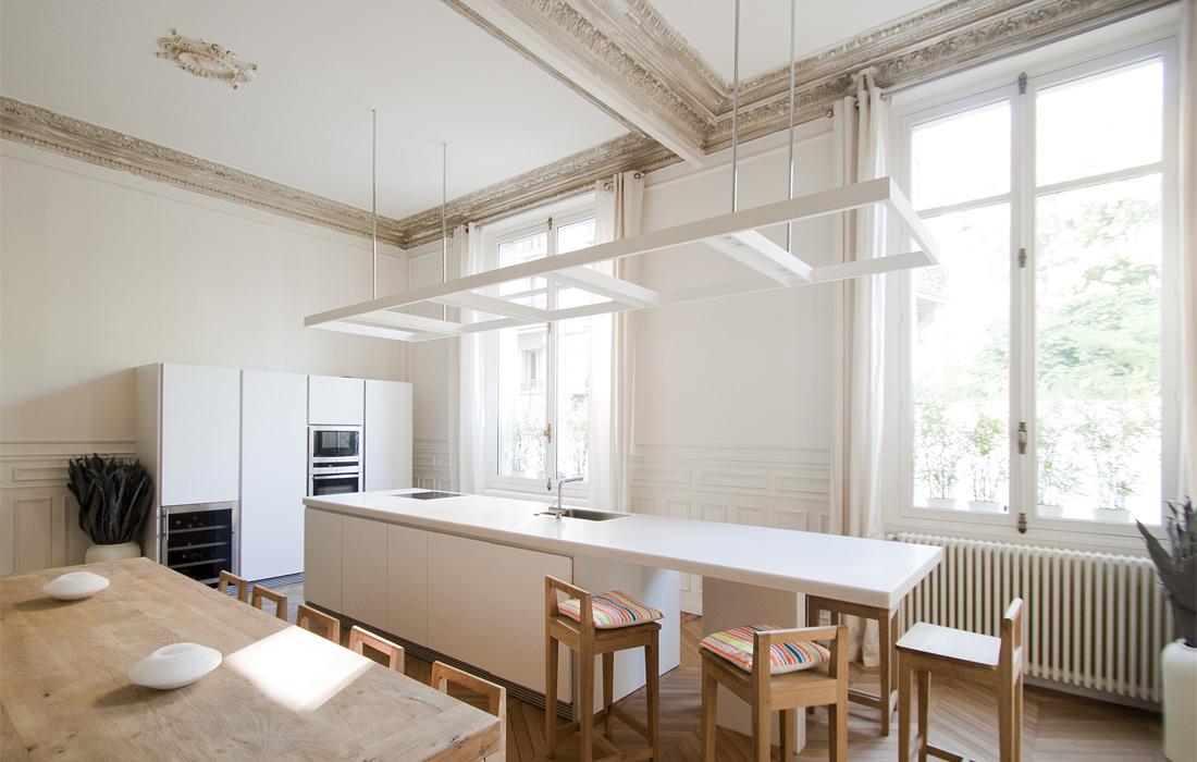 Cuisine-Appartement Luxembourg-FELD Architecture-Architecte à Paris